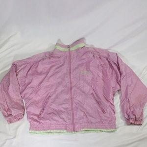 Vintage FILA Pink Satin/Lime Highlight Windbreaker